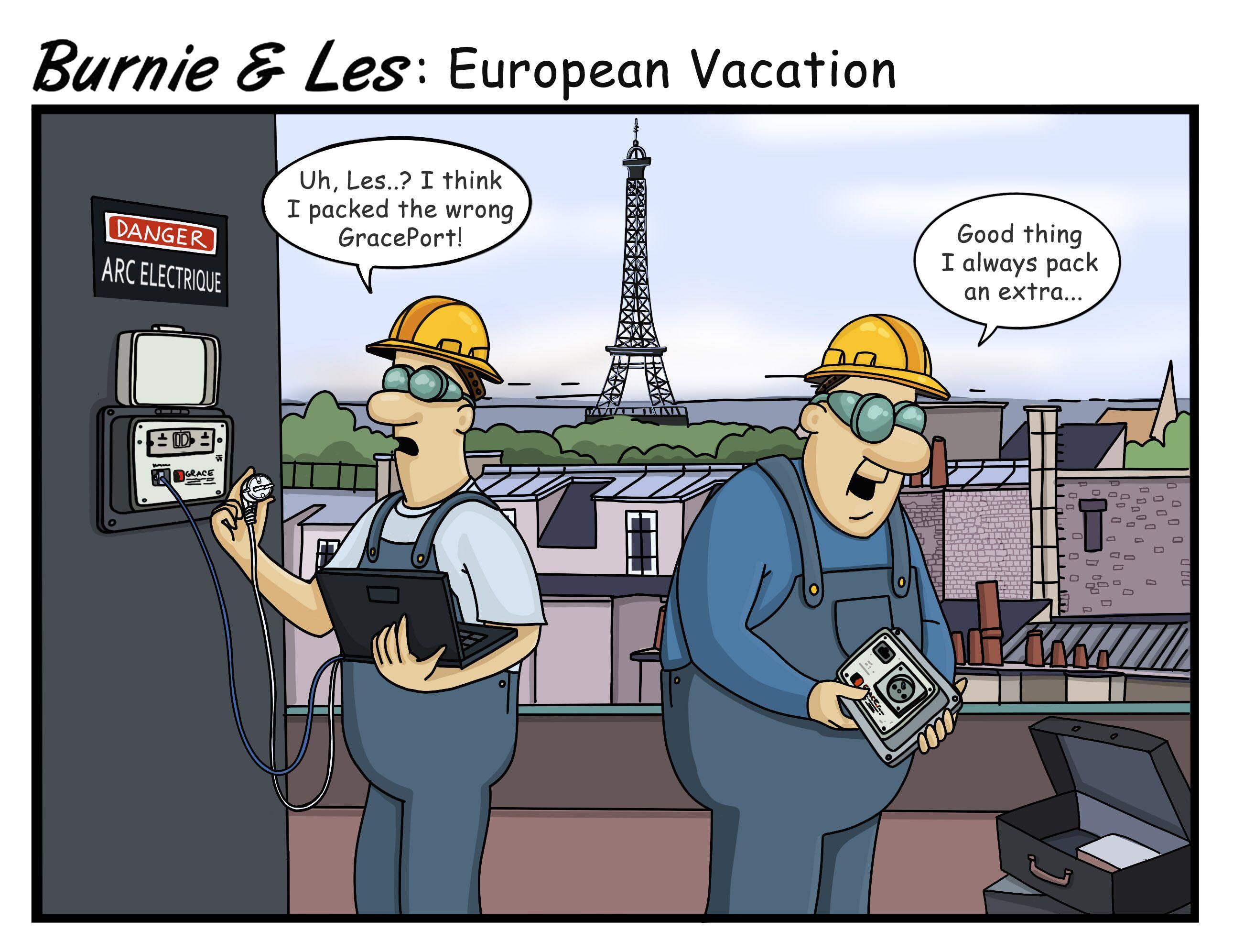Burnie and Les Europe white